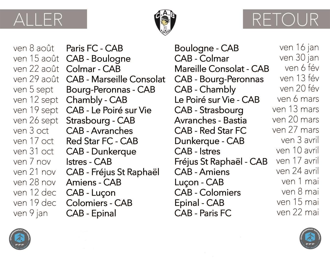 calendrier 2014 2015 matchs CAB